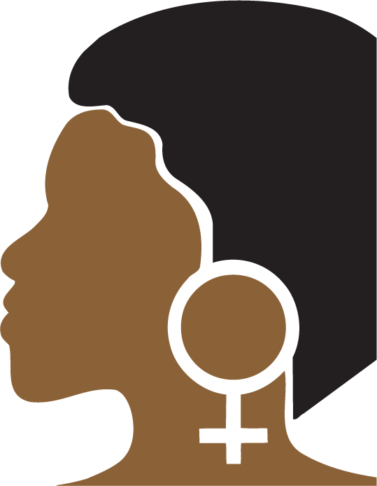 profile of a black woman's face