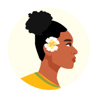 Illustration of a Pacific woman