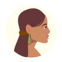 Illustration of a Māori woman
