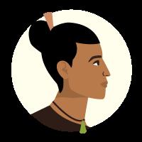 Illustration of a Māori man