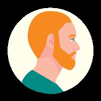 Illustration of a NZ European man