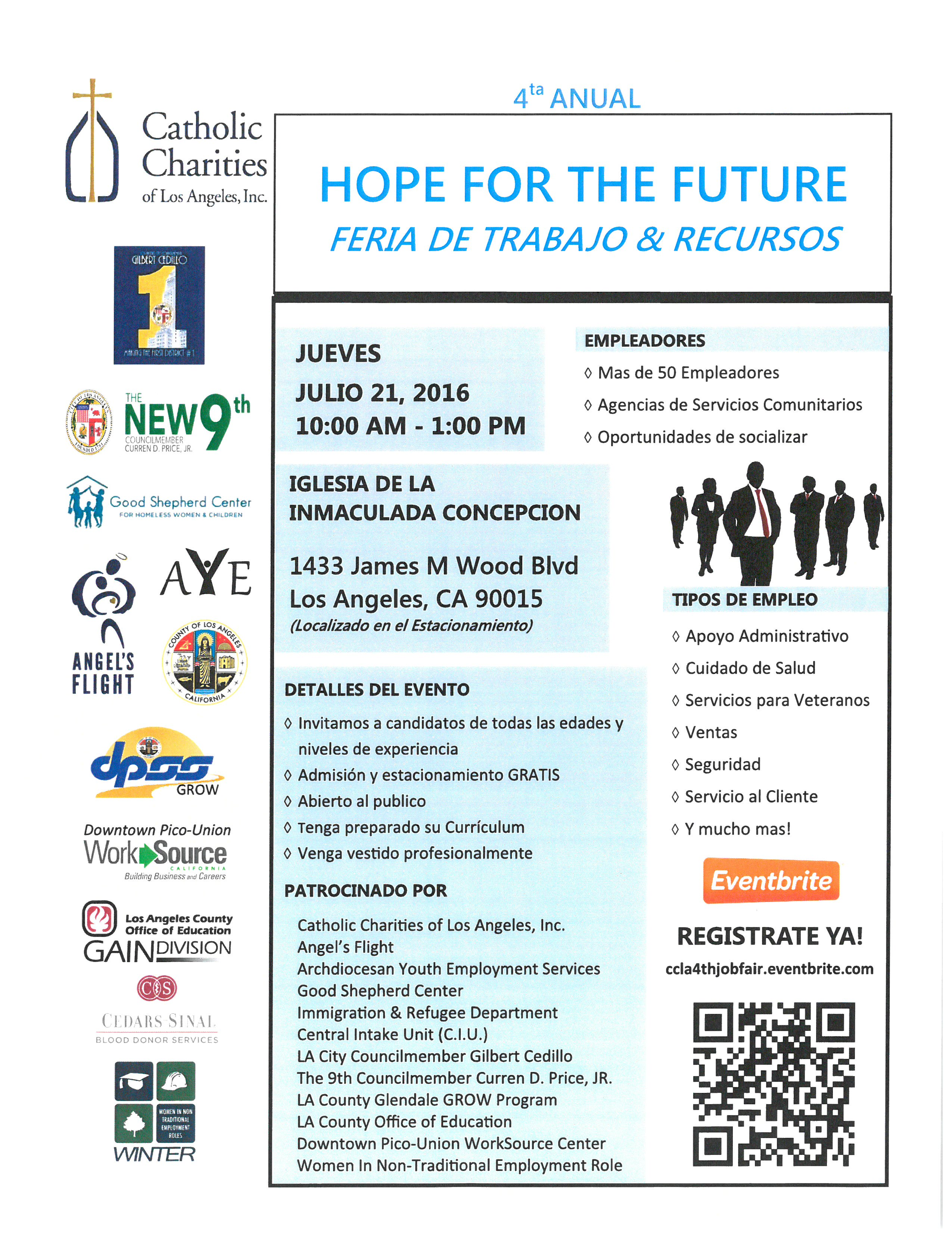 Hope for the Future Job and Resource Fair - New Ninth