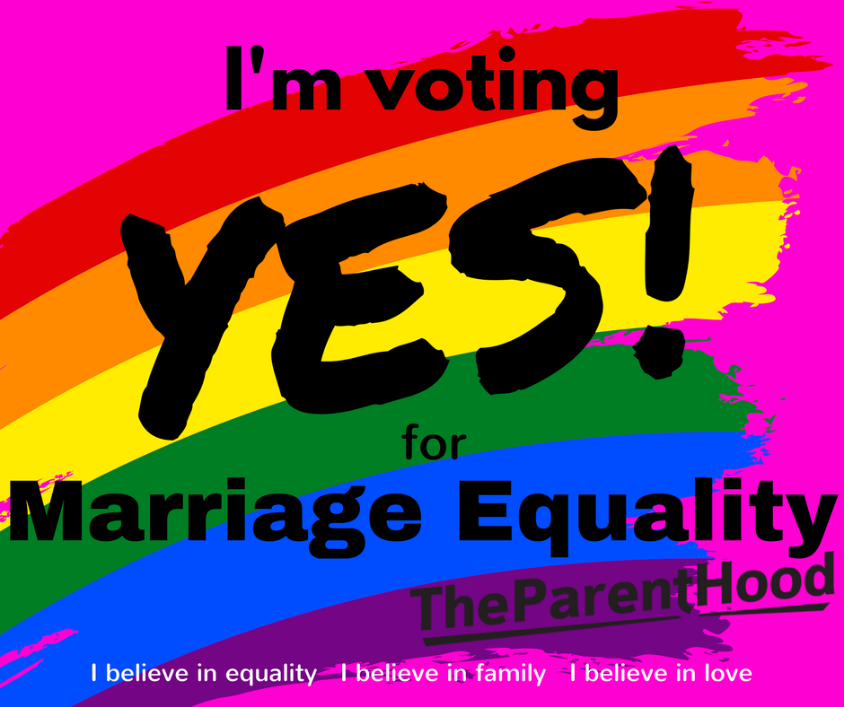 I'm voting YES! for marriage equality