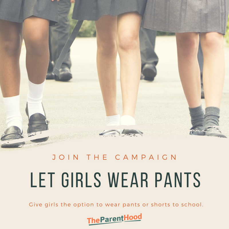 Give girls the option to wear pants to school