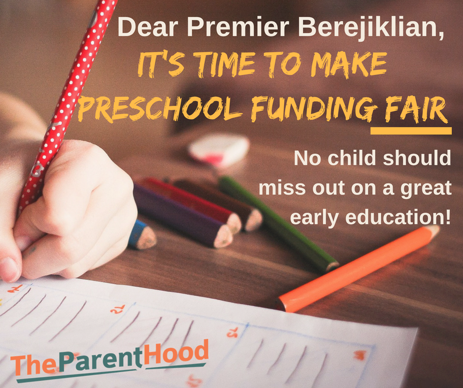 Premier Berejiklian, let's fund preschool for all NSW kids.