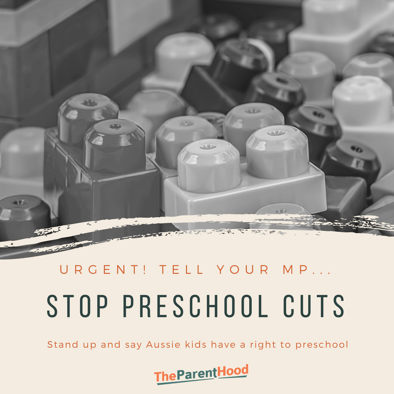 Urgent! Tell your MP, no cuts to preschool funding