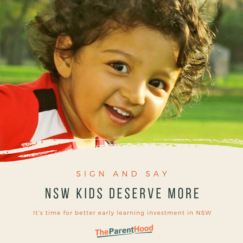 Sign and say NSW kids deserve more early learning funding