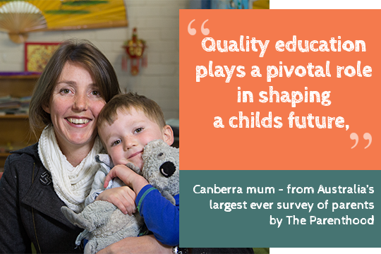 Quality, affordable early learning for kids & workplace equality. #FairerFamiliesPackage!