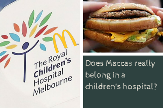 Premier Andrews…Does Macca's really belong in a children's hospital?