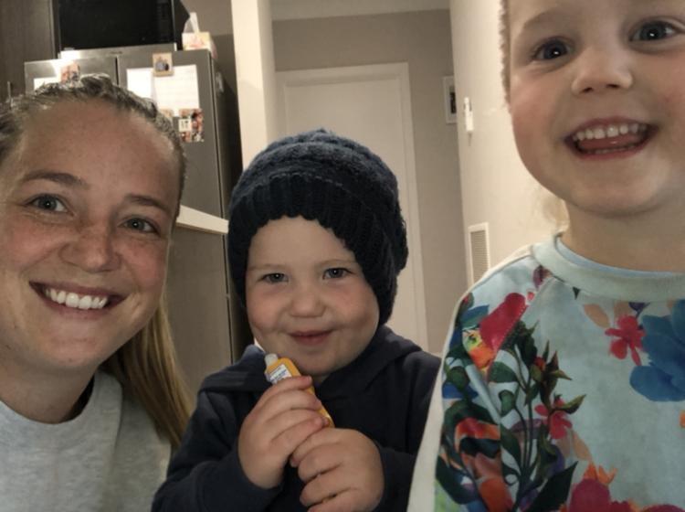 Lauren and her kids