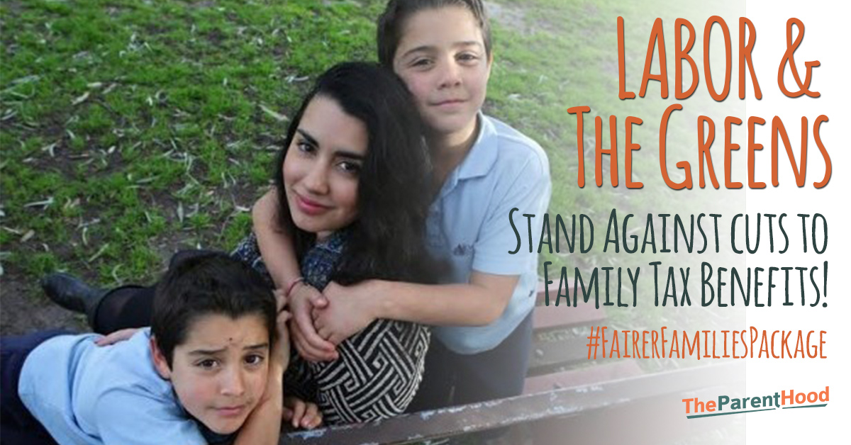 Bill Shorten, Richard Di Natale – vote no to this Bill! Australian Families need a #FairerFamiliesPackage!!