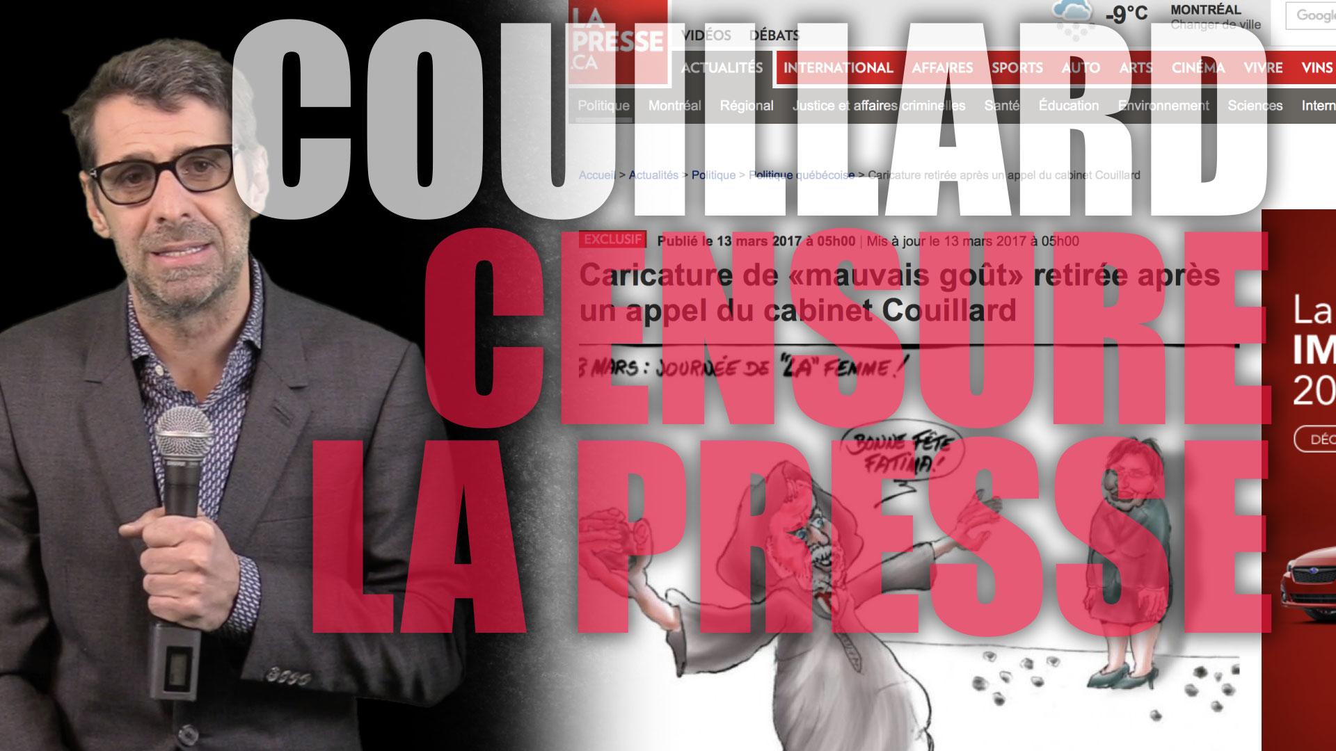 Couillard censure la presse