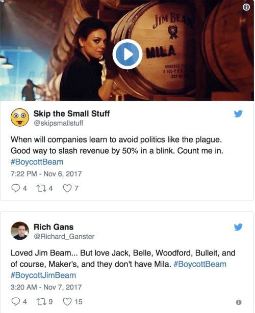 Conservative Twitter Boycotts Jim Beam Because…Mila Kunis Trolled Mike Pence?!