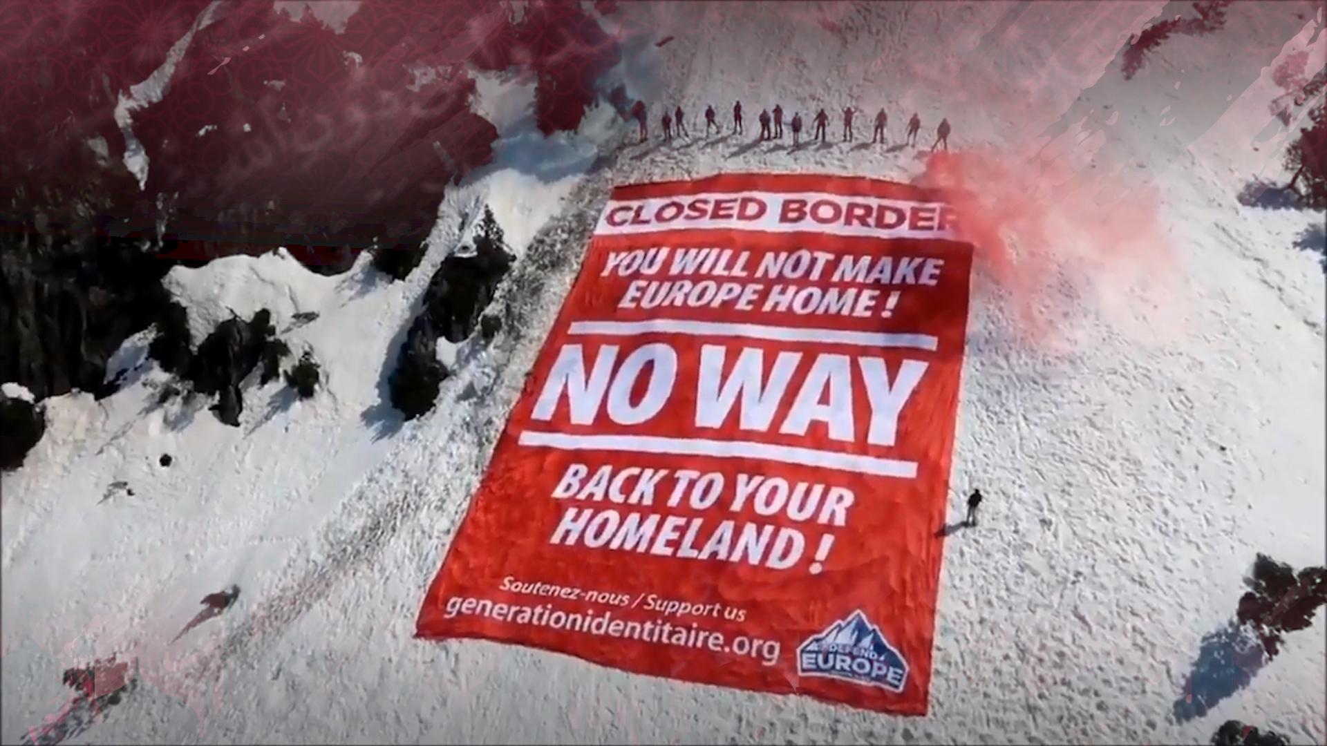 Génération Identitaire message for illegal immigrants