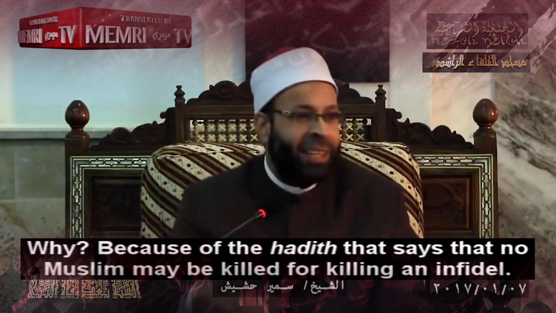 "Top 10: Egyptian Cleric- ""No death penalty for Muslim who kills non-Muslim"""