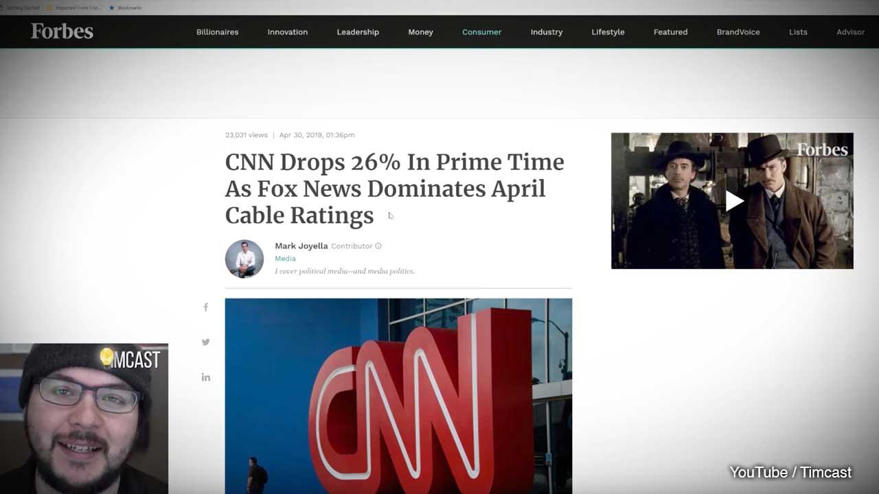 WATCH) Tim Pool: CNN ratings plummet 26% while Fox News dominates