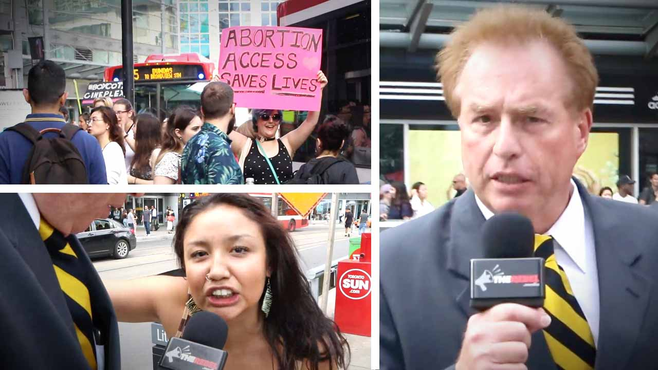 """Unplanned"" in Toronto: Protests outside pro-life movie smaller than expected"