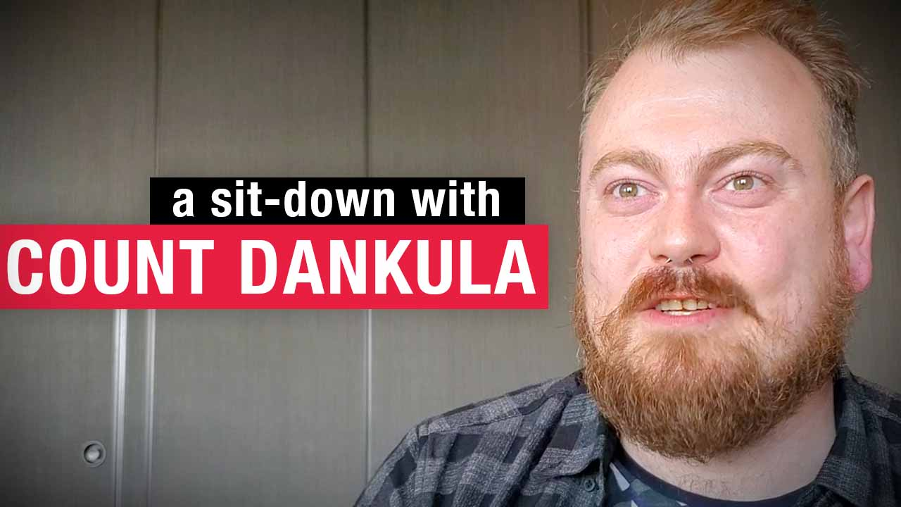 Count Dankula on comedy: It's healthier than drugs!