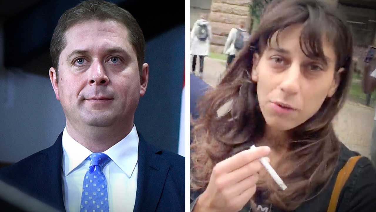 "Confronting ""Vote Andrew Scheer"" racist hate hoaxer Talya Davidson after court appearance"