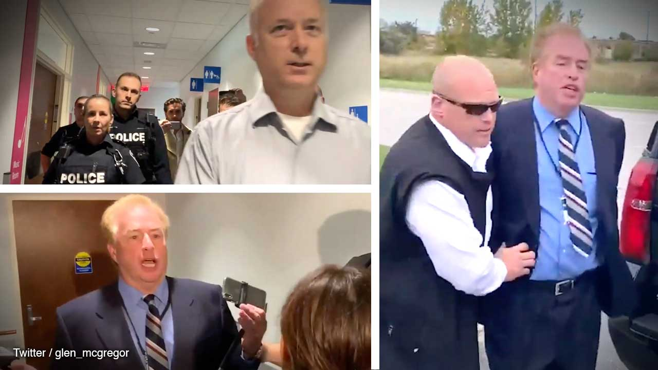 David Menzies ARRESTED at Scheer Conservative event: All the footage, all the details