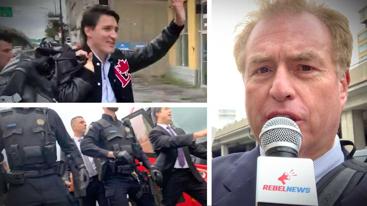 """""""New low"""": Rebel reporter PUSHED to the ground — for asking Justin Trudeau a question"""