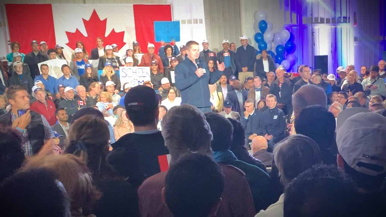 No questions allowed! Andrew Scheer event welcomes Rebel News on one condition