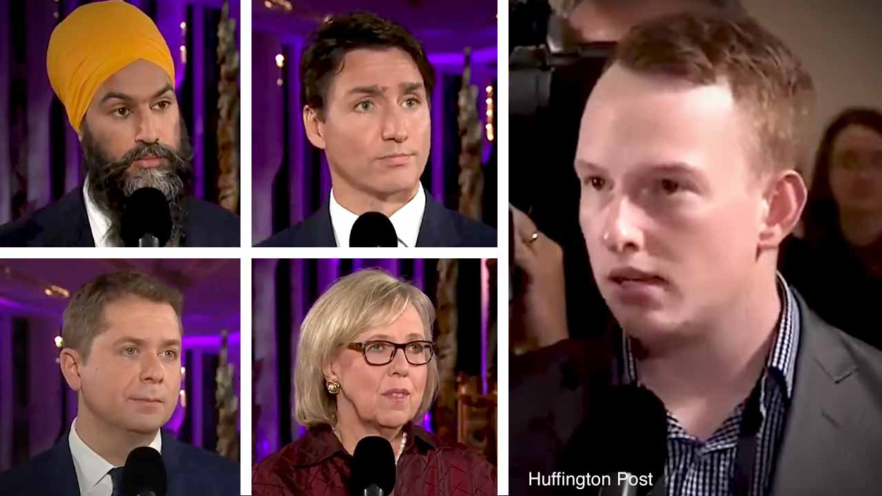Trudeau dodges student/teacher misconduct question: Rebel News at the French leaders' debate