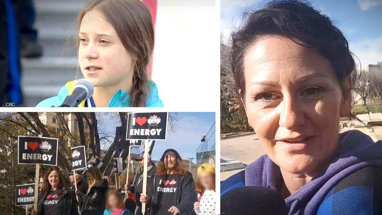 Greta Thunberg meets first real resistance during Alberta demonstration