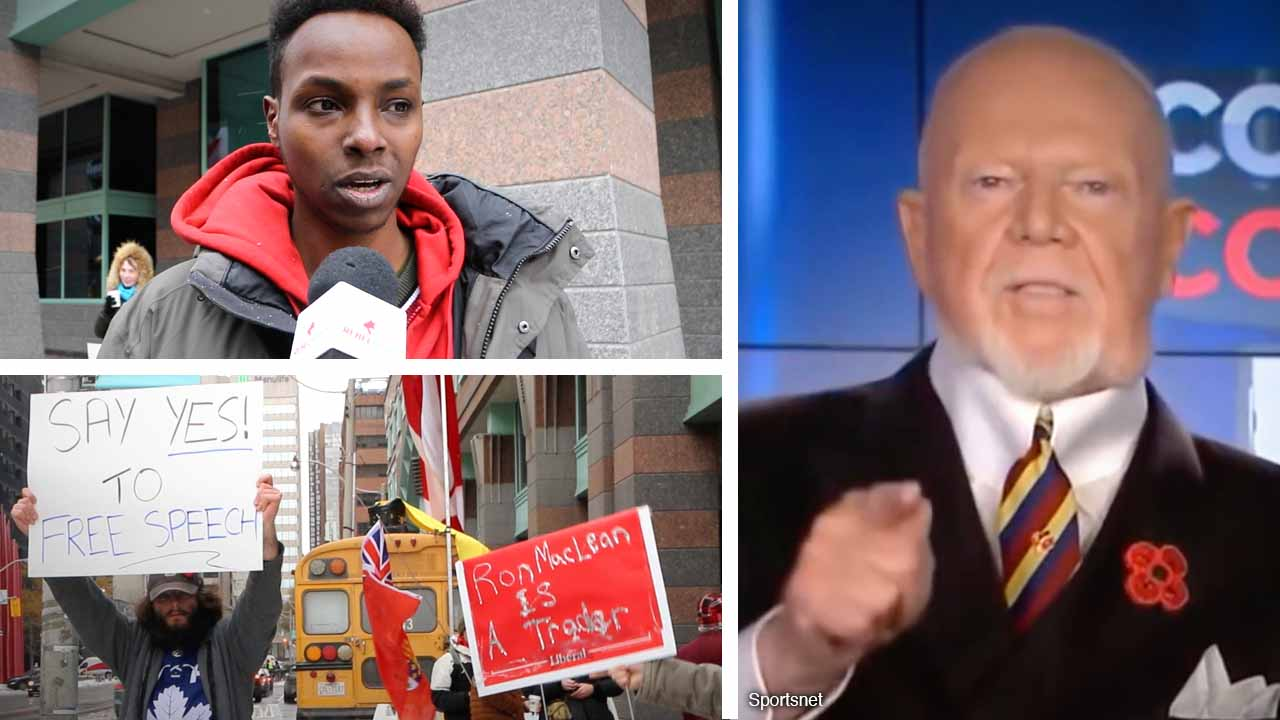 """""""Don did nothing wrong!"""" Cherry """"is an idol"""": Supporters protest outside Rogers' Toronto office"""