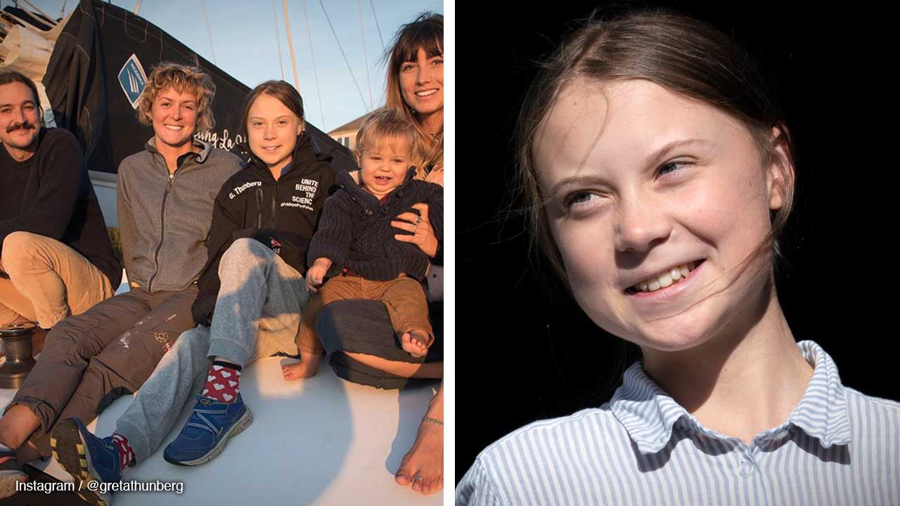 Greta Thunberg hitches a ride on a catamaran to UN climate conference in Madrid