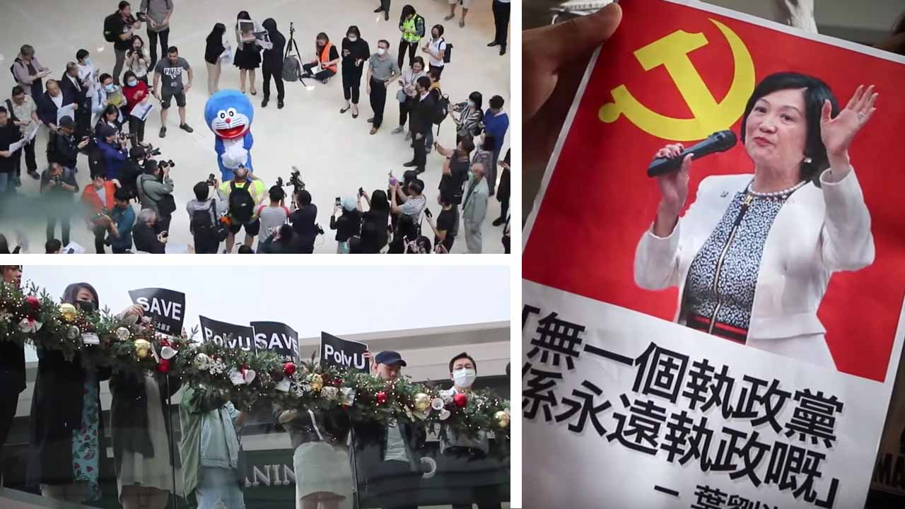 Hong Kong 'flash mob' protest in mall targets pro-Beijing Carrie Lam's incendiary comments