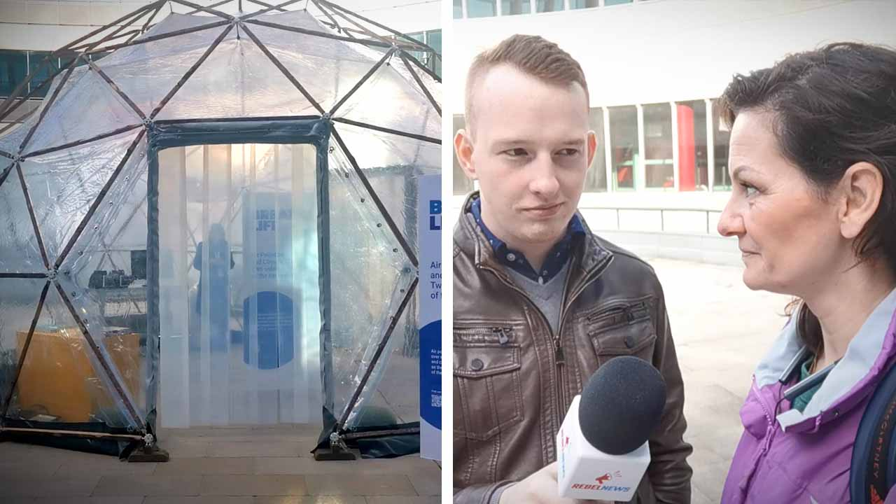 Pollution pods: Simulating bad air quality at the UN climate summit and recommending Canadian solutions