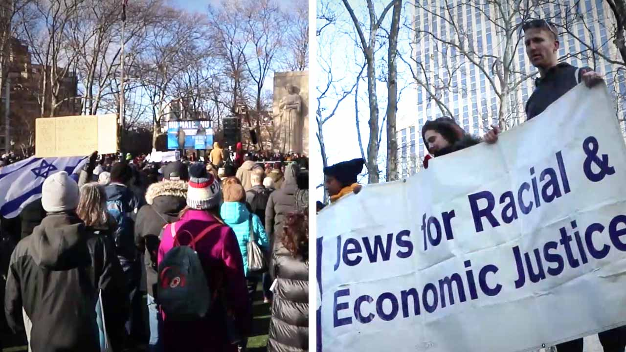 Why is violent antisemitism on the rise? Rebel at the No Hate, No Fear rally in Brooklyn