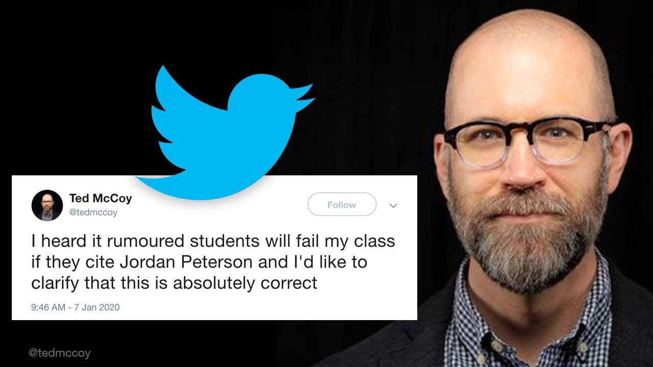 UCalgary prof: I will fail students citing Jordan Peterson
