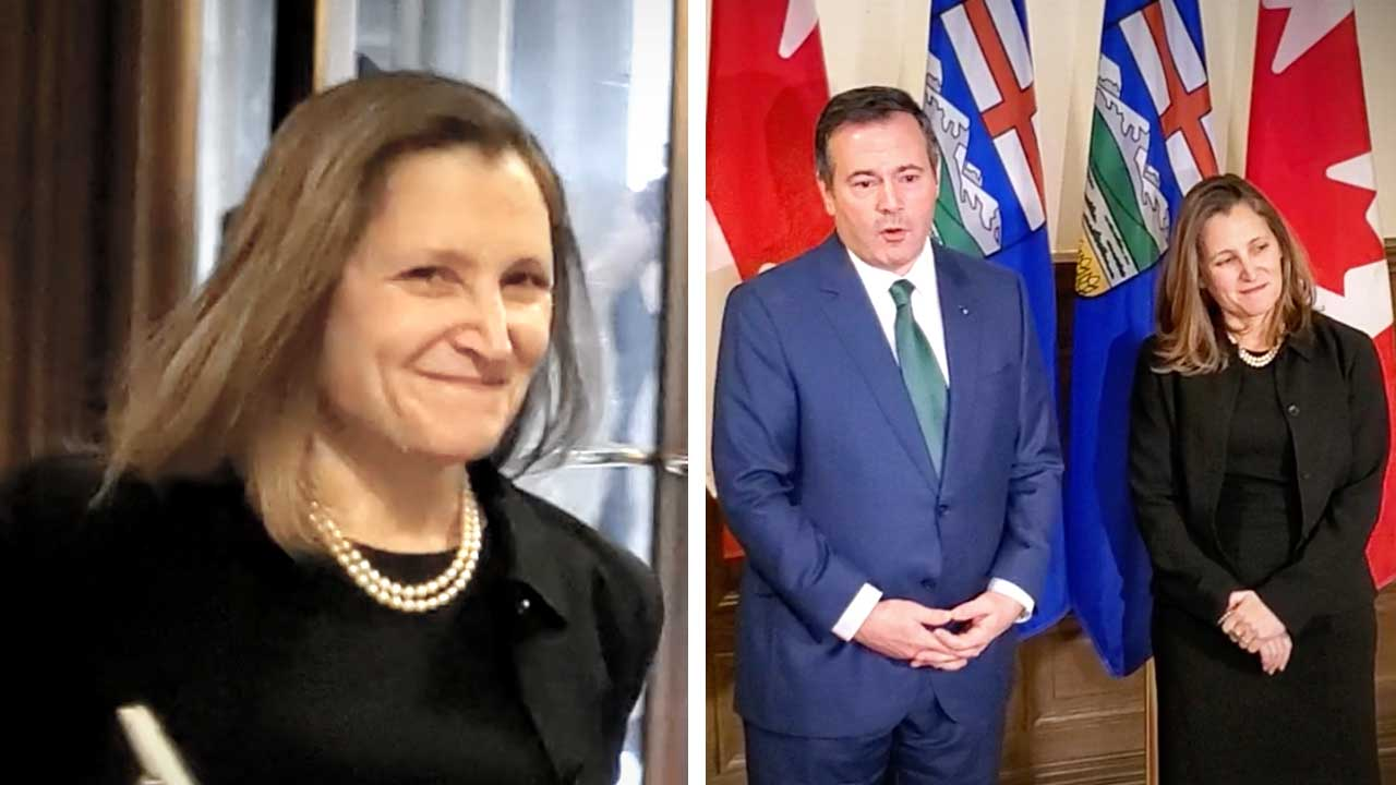 Chrystia Freeland ducks question: Why is there no carbon tax on imported Saudi oil?