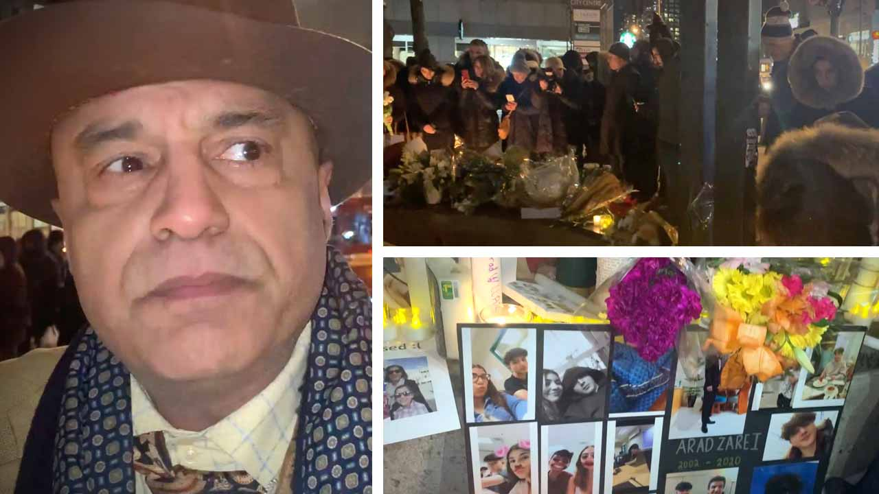 """There is no safety in Iran with that regime"": Candlelight vigil for plane crash victims in Toronto"