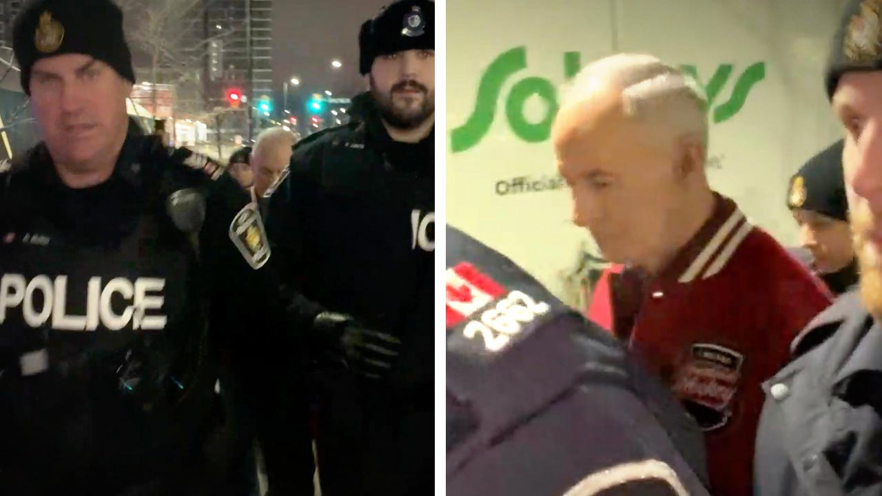 Ron MacLean dodges Don Cherry questions as police threaten David Menzies with arrest for journalism