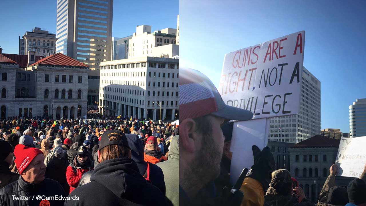 Gun rights supporters fill Richmond, Virginia for massive one day, peaceful rally to protect the Second Amendment