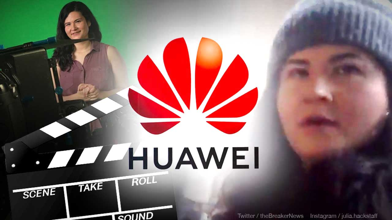 EXCLUSIVE: Professional actress among pro-Huawei protesters supporting Meng Wanzhou in Canada