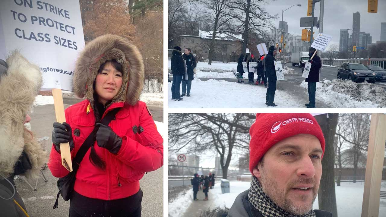 Ontario teachers on strike (again): David asks the picket line for their motivations