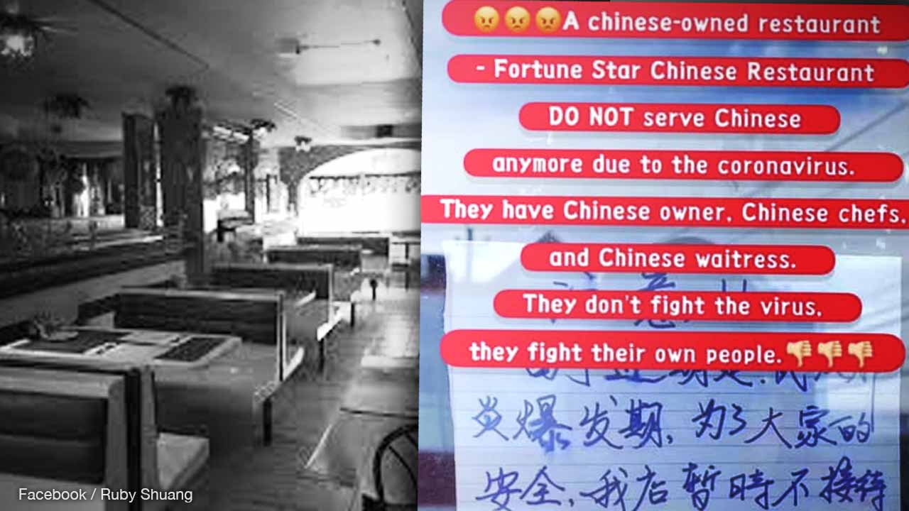 Chinese owned Chinese restaurant bans Chinese students due to coronavirus fears in Nova Scotia