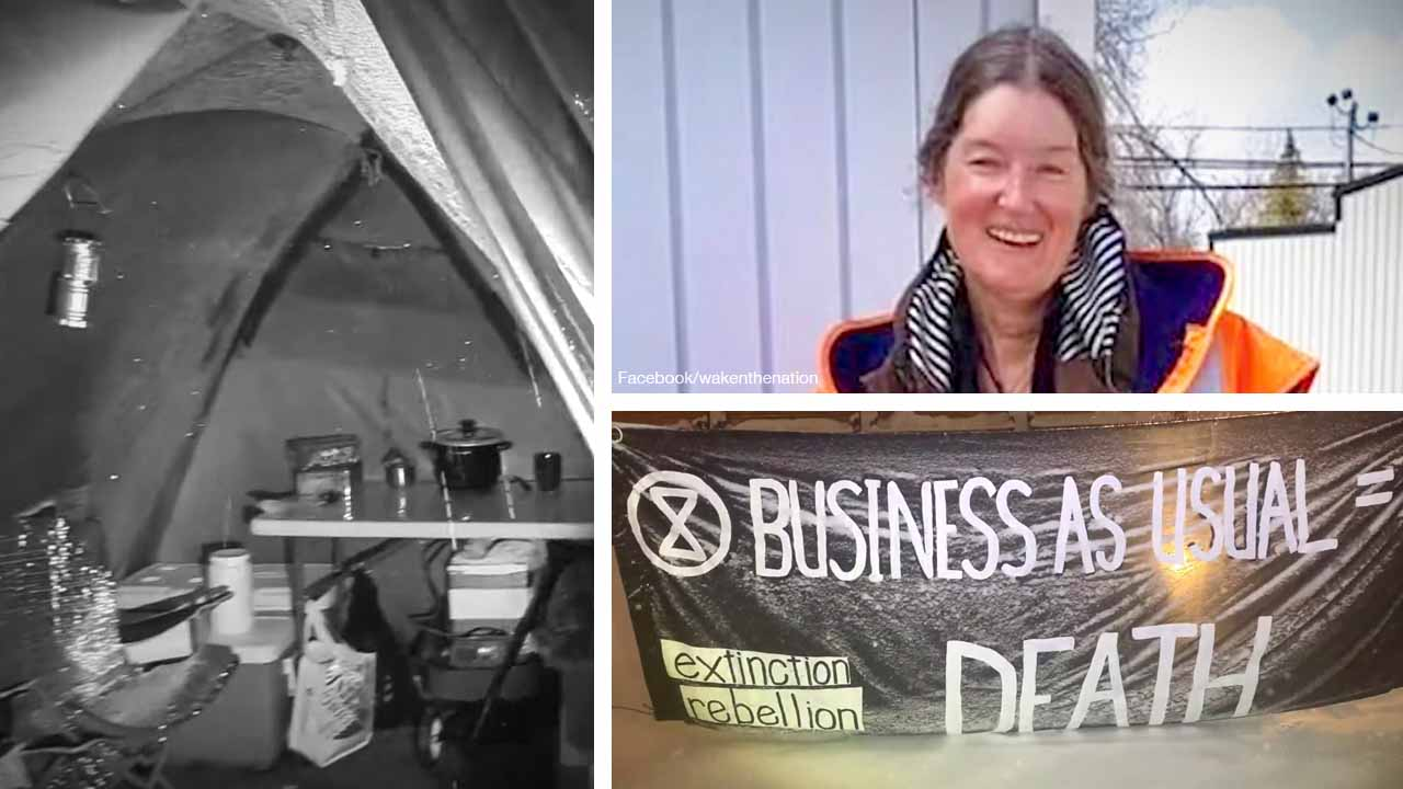 Greta knock-off 'Ann Cognito' the only squatter at Ottawa's National War Memorial tent city protest