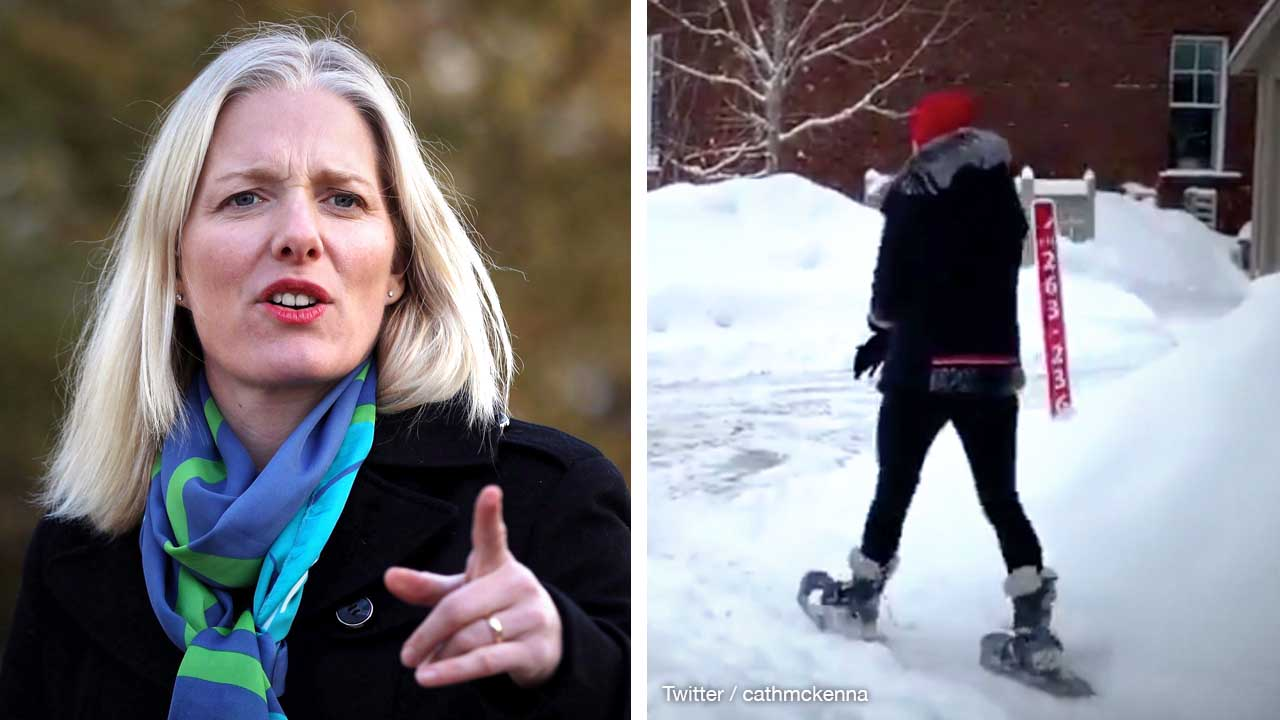 Catherine McKenna's Ottawa office takes on the snowshoe-to-work tweet
