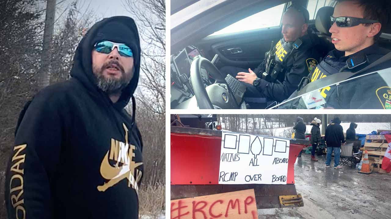 """Pipeline an """"act of war"""": CN, Via Rail blockade in Ontario continues as police stand by"""