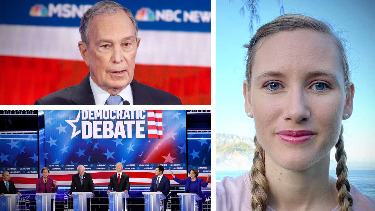 Michael Bloomberg's first time at the debates: Short, and to-the-point