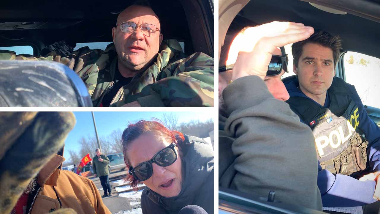 """""""You need to leave!"""" Lawlessness escalates at rail blockade in Belleville, Ontario"""