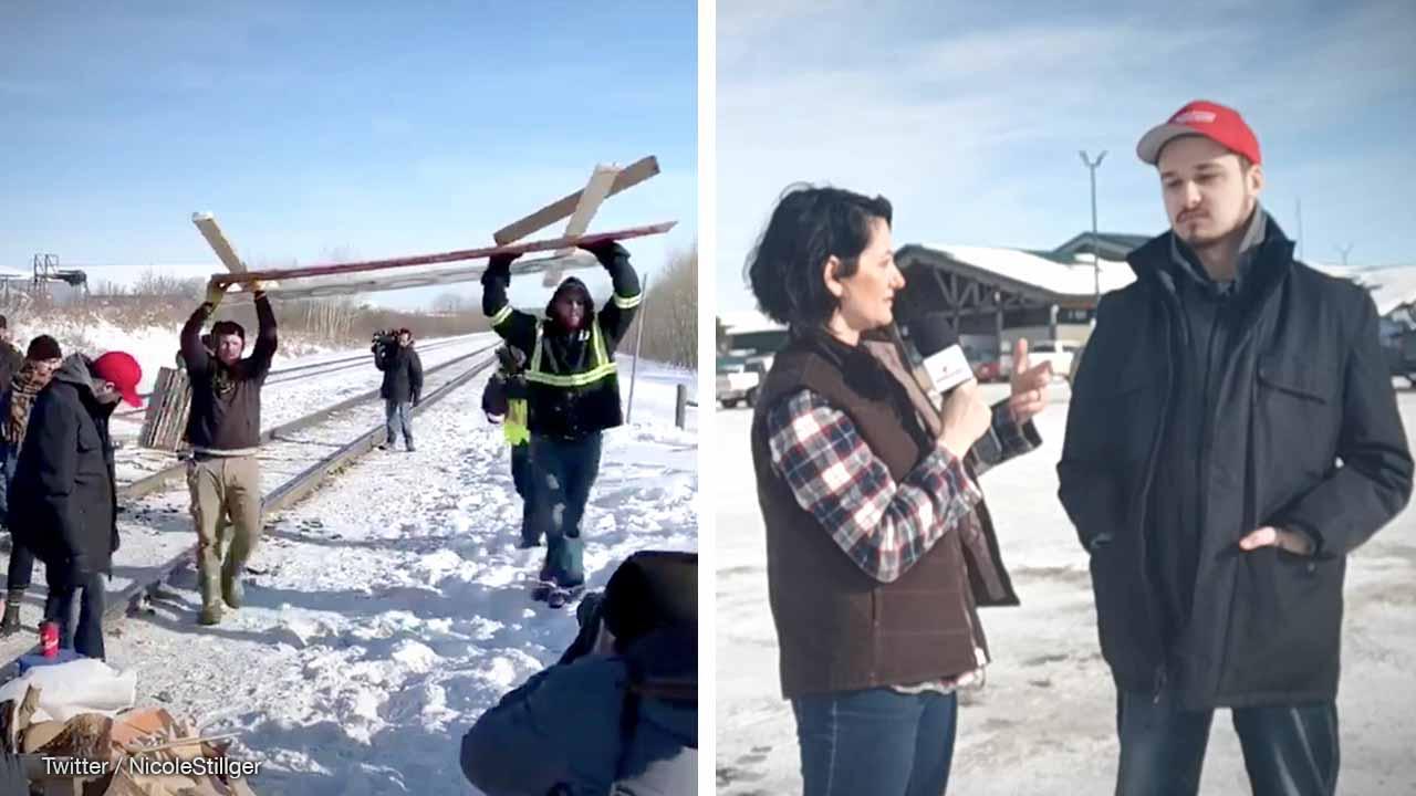 Meet Alberta's blockade busters: MAGA hat hero Chase Chomey