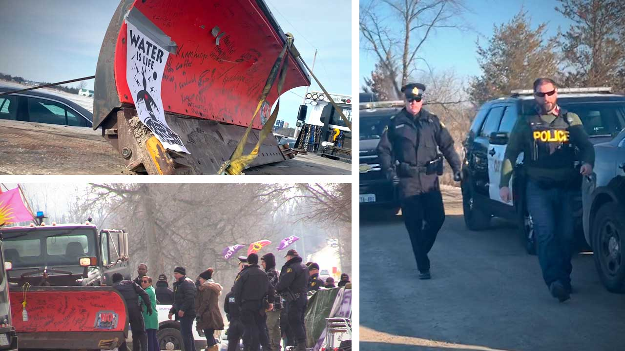 RCMP remove railway protesters from Belleville, Ontario blockade