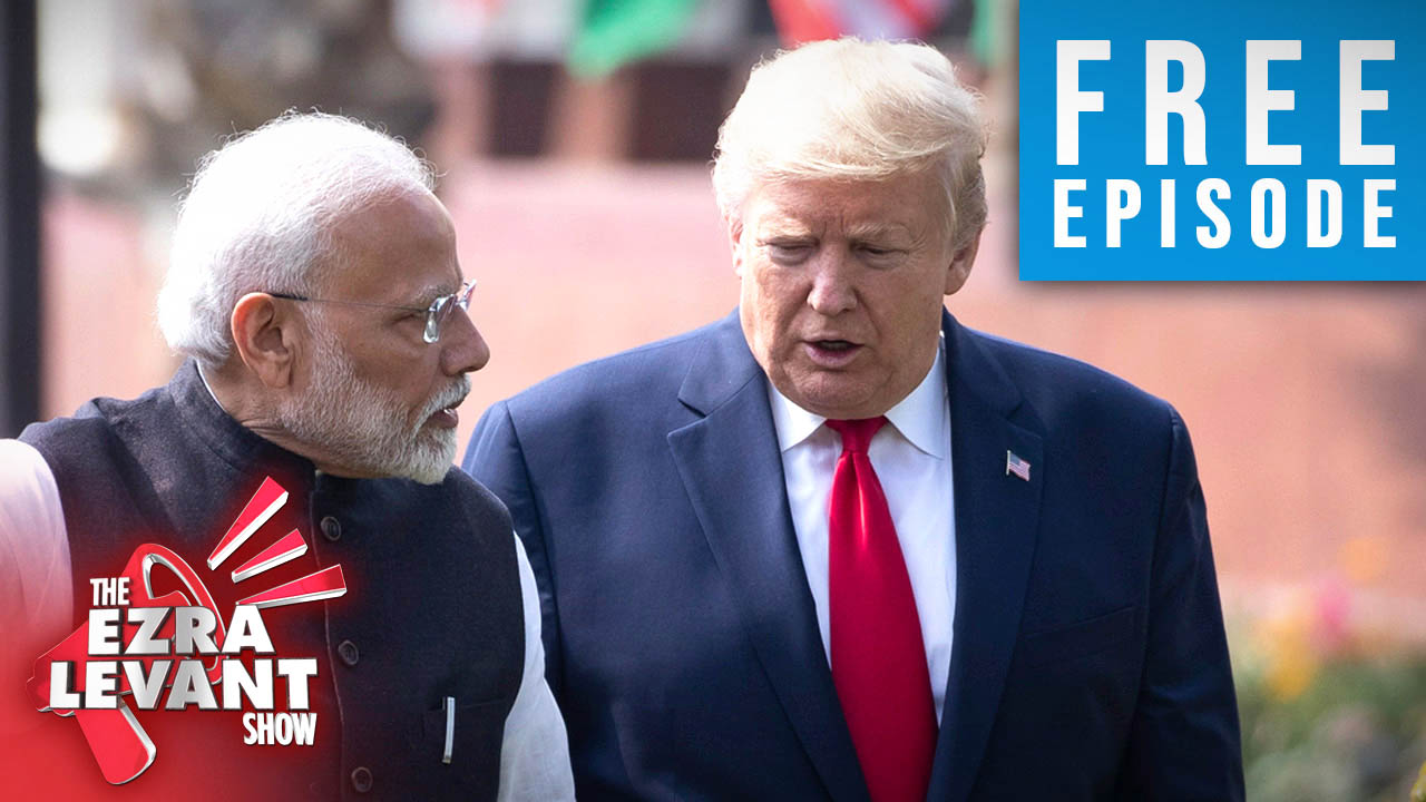 Trump gets hero's welcome in India — and didn't even have to wear a costume