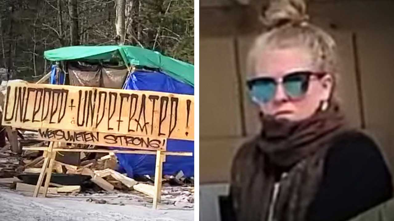 White girl on duty: Wet'suwet'en blockades checkpoints running low on real First Nations